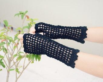 White Wedding Crochet Fingerless Gloves Mittens Bridal Gift