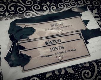 Grooms Survival Kit / Box Tags
