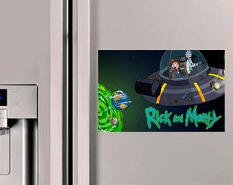 Rick and Morty Space Fridge Magnet