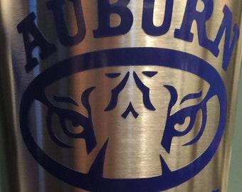 Auburn Tigers decal for tumbler