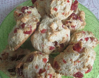 Strawberry, or Chocolate Chip Scones  made with Irish Scone Recipe/1Dozen Plus 1 for a Bakers Doz