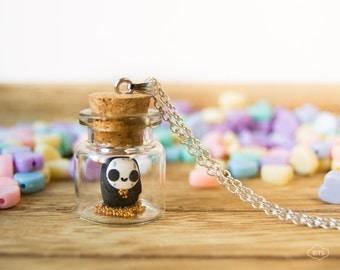 No-face necklace bottle - ghibli kaonashi kawaii pendant vial cute miniature Chihiro
