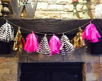 Kate Spade Inspired Party Paper Tassle Garland