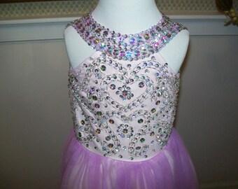 Toddler full length Pageant dress