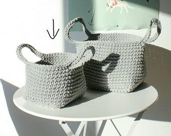 Small grey basket