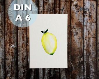 Mini Poster DIN A 6 • lemon •