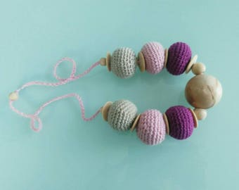 "necklace ""Bubbles of cotton"", bubble & tightrope walker"