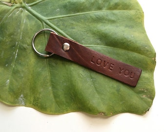 Upcycled Leather Keychain // custom keychain // personalized keychain // leather keychain  // monogram keychain // gift ideas