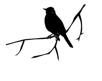 Pack of 3 Bird on Branch Stencils Made from 4 Ply Mat Board, 11x14, 8x10 and 5x7