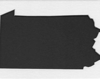Pack of 3 Pennsylvania State Stencils,Made from 4 Ply Mat Board 16x20, 11x14 and 8x10