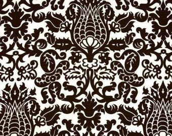 Damask Premier Prints Amsterdam Slub Brown Fabric, Premier Prints, Brown fabric, Damask