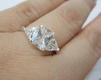 Emerald cut engagement ring Etsy