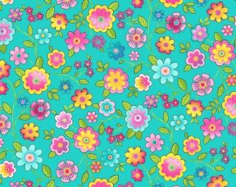 Blossom  - Northcott Studio - 1 Yard Cut - 21100-63 -Cotton Fabric - Quilting Fabric- Floral Fabric