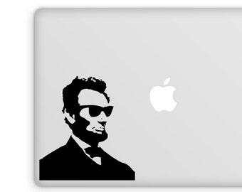 Abraham Lincoln Decal, Vinyl Decal, Abe Lincoln, Hipster Gift, Laptop Sticker
