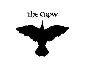 The Crow Decal - Movie Poster / Crow Movie