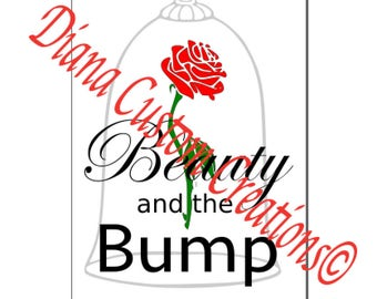 Beauty and the Beast Beauty and the Bump Svg Cricut Silhouette