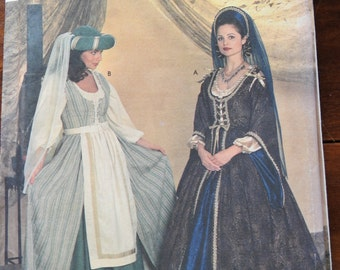 Simplicity 7756 Women's Historical Costume Gowns Sewing Pattern