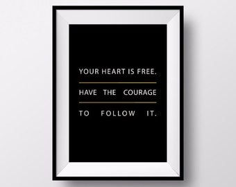 Braveheart Poster, William Wallace Poster, Braveheart Art, Office Poster, Motivational Print, Gift for Friends, Quote Poster, Inspirational