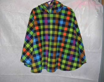 Green Check Poncho