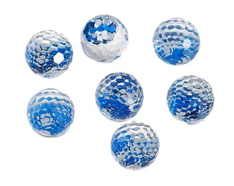 8 mm Acrylic Ball Mermaid Scales Cabochons - Pack of 25 (1440)