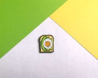 Avocado Egg on Toast Enamel pin badge / Brunch lapel pin