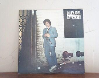 1978 Billy Joel 52nd Street  LP Vinyl Record 1970S Vintage
