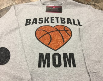 Basketball Mom glitter shirt.