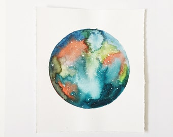 Original Galaxy Watercolor | Original Painting | Galaxy Watercolor Illustration | Galaxy and Stars Watercolor Painting | Outer Space Art