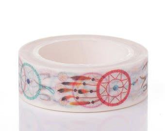 Washi Tape - Dream Catcher Washi Tape - Feather Washi Tape - Paper Tape - Planner Washi Tape - Washi - Decorative Tape - Deco Paper Tape