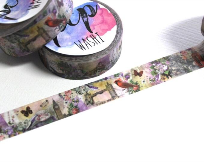 Cardinal Butterfly Washi Tape - Washi Tape - Cardinal Washi Tape - Paper Tape - Planner Washi Tape - Washi - Decorative Tape - Deco Paper Ta
