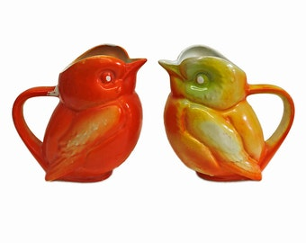 Pair of Vintage French Bird Pitchers