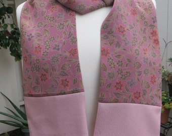 Rose colored Silk Scarf made from re-purposed Japanese Kimono