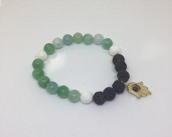 Happy Hamsa Diffuser Bracelet