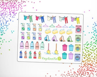 Cleaning Laundry Housework Planner Stickers