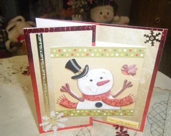 3D Decoupage Gatefold Christmas Card With 10.5 x 10.5 Sqaure Card