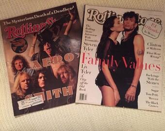 Aerosmith Steven Tyler Liv Tyler 2 Rolling Stone Magazines