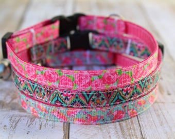 Designer Inspired Cat Collars - XS Dog Collars - Floral Cat Collar - XS Dog Harness - Nautical Cat Collar - Star Fish Cat Collar