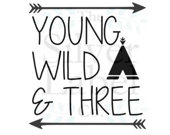 Young Wild & Three SVG