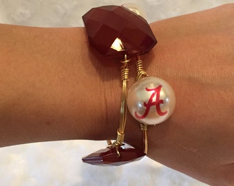 Alabama/Auburn Bangle Bracelets