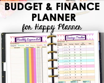 Happy Planner Budget Pages, Finance Printables, Happy Planner Budget, Printable Finance Inserts, Extension Pack, 9 x 7, Instant Download