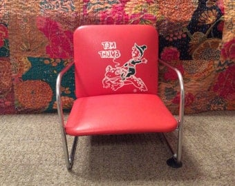 Child Booster Seat Chair Red Tom Thumb Vintage Barber Shop