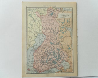 Vintage Map of Finland