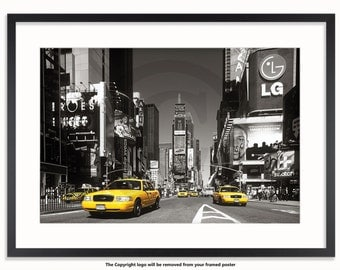 New York Times Square Yellow Taxis H Poster