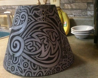 Knife Gaze Lamp Shade| Hand Painted Lamp shade|Funky Home Decor| Trippy| Psychedelic|TheSkwurilNest