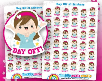 36 Cute Day Off #1 Planner Stickers, Filofax, Erin Condren, Happy Planner,  Kawaii, Cute Sticker, UK