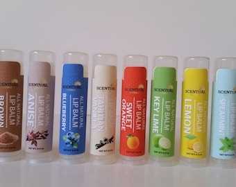 ORGANIC LIP BALM, Vegan Lip Balm, Natural Lip Balm, Sweet Lip Balms, Pick Your Own, Gifts for Her