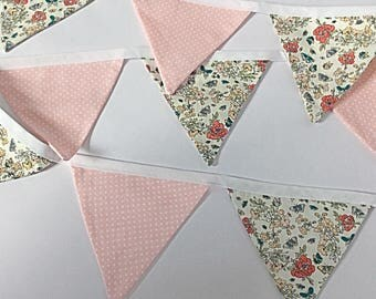 Floral bunting | bunting | garden bunting | butterfly bunting | pastel bunting | tent bunting | boho | camping accessories | vintage bunting