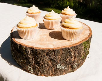12 Inch Wood Slab Cake Stand, Rustic Wood Wedding cake stand, 12 Inch Wooden Wedding Cake Stand, Stand for 10 Inch Cake, Wood Stump Stand