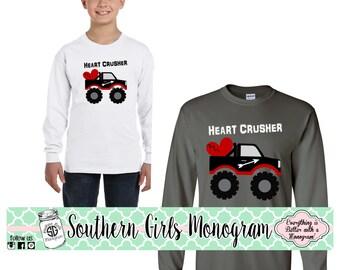 Valentine Shirt Heart Crusher Boys Valentines Day Shirt