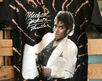 Michael Jackson thriller acid washed and distressed shirt